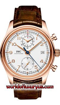 This IWC Portuguese Chronograph Classic Mens Watch, IW390402 features 42mm 18kt Rose Gold case, Silver dial, Sapphire crystal, Fixed bezel, and a Alligator/Crocodile Leather Brown Strap. IWC Portuguese Chronograph Classic Mens Watch, IW390402 also features Automatic Chronograph Movement, Analog display, Date at 3 o'clock. This watch is water resistant up to 30m/99ft. - See more at: http://www.worldofluxuryus.com/watches/IWC/Portuguese/IW390402/185_210_7901.php#sthash.FnRF5rlo.dpuf