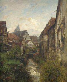fleurdulys:   Partie in der Esslinger Altstadt - Gustav Schonleber 1880