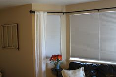 DIY Bay Window Curtain Rod from PVC