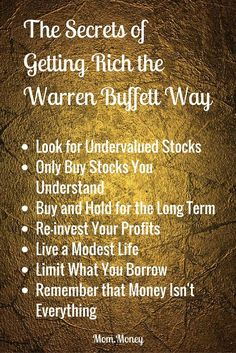 If you want to learn how to create wealth, then you could hardly do better than listen to the most successful investor of all time. Check out the simple strategies that Warren Buffet used to become one of the richest people in the world. Read more about T Think And Grow Rich, How To Get Rich, Trade Finance, Finance Business, Warren Buffet Quotes, Money Isn't Everything, Creating Wealth, Financial Instrument, Wealth Creation