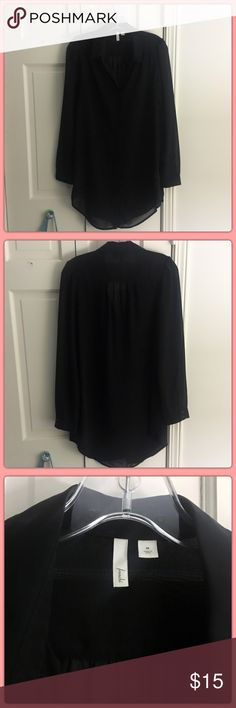 SALE ✨ Frenchi gorgeous sheer black tunic Perfect for work and going out!! Very flattering 👗💃🏼 Frenchi Tops Tunics