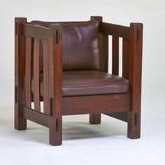 fauteuil cube, J.M.Young, cube chair, arts and crafts, ca.1920