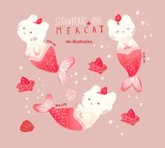 Strawberry Rose Mercat.