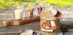 Yankee Candle Man Candles:  2 x 4 - warm, freshly planed wood & sawdust evokes a sense of confidence & quality.  Riding Mower - hot sun, cool breeze & the intensely summery scent of freshly cut grass.  First Down - combo of orange, patchouli, vetiver & leather is as exciting as game day.  Man Town - escape to the man cave w/ this masculine blend of spices, woods & musk.