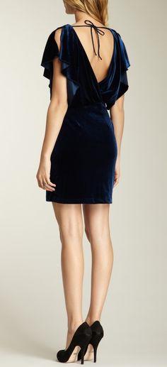 Velvet Flutter Dress