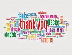 Thank you in different languages!