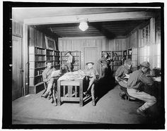 Books, Rafters, Wood; Library War Service, Camp Kearney