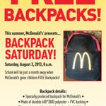 Local franchise owners show support for students w free backpacks Aug 3 McDonald's Minnesota (McD_Minnesota) on Twitter