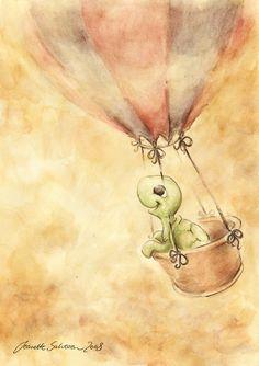 Journey Through the Clouds by Jeanette Salvesen / DreamsOfALostSpirit