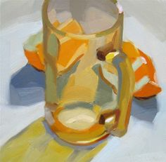 "Daily Paintworks - ""Amber Glass and Orange Slices"" by Robin Rosenthal"