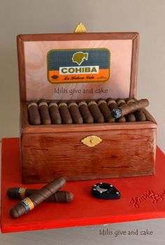 cuban cigars cake
