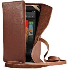 Verso Marrakesh Genuine Leather Cover for Kindle Fire, Brown. - The Marrakesh cover was specifically designed for Kindle Fire.  Patent-pending, universal corner elastic design secures your device snugly within the cover.  Soft microfiber interior helps prevent scratches on your device.  3 interior pockets to help organize documents.