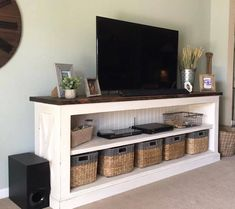 Build a farmhouse style tv console/sideboard rustic tv console, tv cons Furniture Projects, Furniture Plans, Home Projects, Home Furniture, Furniture Buyers, Furniture Removal, Furniture Stores, Luxury Furniture, Build A Tv Stand