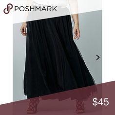 Black torrid insider tulle maxi skirt Torrid insider maxi tulle skirt.. NWT. torrid Skirts Maxi