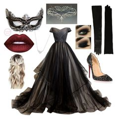 Masquerade Party by narniachild on Polyvore featuring Christian Louboutin, Lauren Ralph Lauren and Bloomingdales