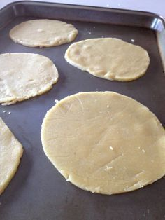 Tortillas - 2 Cups of Almond flour, 2 Eggs, 1 tsp Olive Oil, 1/2 tsp Sea Salt. Combine and bake at 350F for 8 minutes.