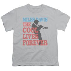 """Checkout our #LicensedGear products FREE SHIPPING + 10% OFF Coupon Code """"Official"""" Miles Davis / Cool Lives-short Sleeve Youth 18 / 1-silver-sm - Miles Davis / Cool Lives-short Sleeve Youth 18 / 1-silver-sm - Price: $29.99. Buy now at https://officiallylicensedgear.com/miles-davis-cool-lives-short-sleeve-youth-18-1-silver-sm"""