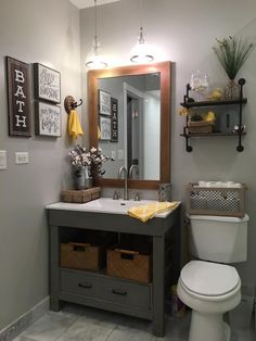 Guest Bathroom Reveal Projects To Work On Pinterest Guest