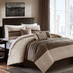 Dylan 6-7 Piece Comforter Set in Sand - BedBathandBeyond.com. Love this, got it from my Hubby for my birthday :D