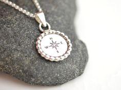Journey compass necklace