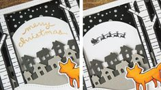 How to make a spinning Christmas card using @LawnFawn stamps and dies.