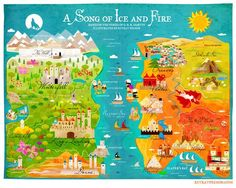 This is a GREAT visual map of the Seven Kingdoms!: