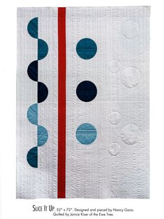 Slice It Up by Nancy Gano.  in: Appliqué for Modern Beginners – AQS Blog Modern Quilting Designs, Circle Quilts, Real Simple, Easy Projects, Quilt Patterns, Applique, Kids Rugs, Textiles, Envy