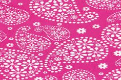 Flannel by the Yard  Floral Paisley Pink 100% Cotton by CuddleTyme