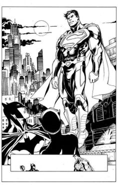 Clark: Could you two keep it down? I can hear you from Krypton. Bruce: Then stop eavesdropping. Selina: Don't you have a fire you need to throw that wet blanket on? Clark: You guys deserve each other. Bruce: Shut-up Clark. Catwoman Y Batman, Batman Cat, Batman Humor, Best Comic Books, Comic Books Art, Comic Art, Superman And Lois Lane, Adventures Of Superman, Comic Book Characters