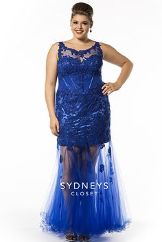 This drop dread gorgeous, blue corseted plus size dress is a hot pick for Prom 2015!
