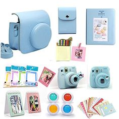 Gvirtue Fujifilm Instax Mini 8 Instant Camera Accessories Bundles Blue *** You can get more details by clicking on the image.