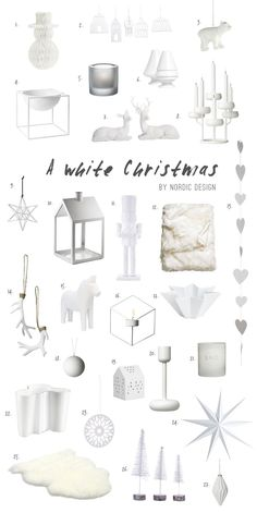 Top Picks For An All White Christmas Decor - NordicDesign