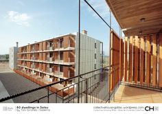 Built by Toni Gironès in Salou, Spain with date Images by José Hevia. Salou is a municipality in the Catalan coast of the South of Tarragona. Social Housing Architecture, Wood Architecture, Architecture Details, Contemporary Architecture, Arch Building, Home Building Design, L'architecture Espagnole, Modern Tropical House, Tropical Architecture
