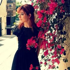 Lindsey Stirling. I LOVE her hair color and cut.