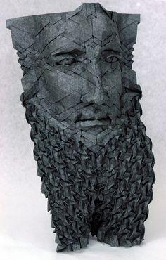 folded paper mask