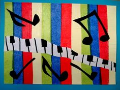 "Isabella4435's art on Artsonia  Fountain Woods Elementary school  grade 4  ""Rhythm"""