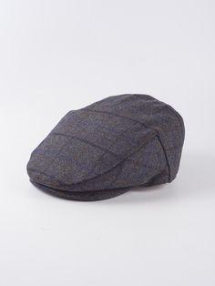 8419606b Waterproof Tweed Flat Cap in Storm Blue - New tweed caps in two great  checks perfect