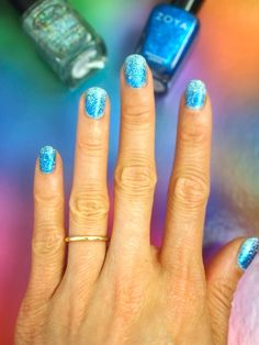 mermaid blue with silvery glitter