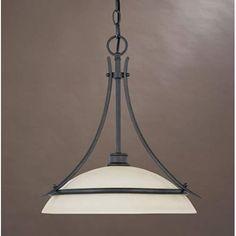 Montego Oil Rubbed Bronze One Light Pendant Designers Fountain Dome Pendant…