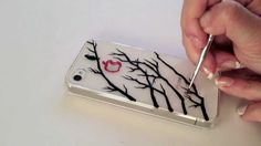DIY iphone cases. This would look so cute with a clear case on a 5c!