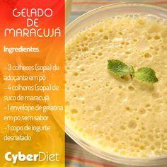 Sabe aquele docinho leve, fácil de fazer e com poucas calorias? Veja como fazer: http://maisequilibrio.com.br/gelado-de-maracuja-8-2-7-789-e-25.html?origem=Pinterest