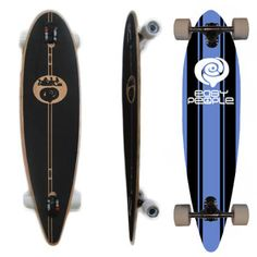 Easy People Longboards Classic Pintail Drop through Lowrider Longboard Complete PDT-0 Malibu