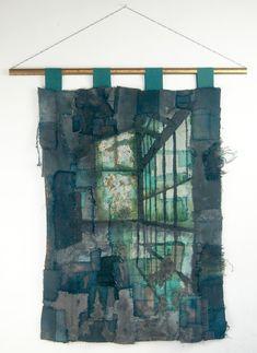 Gothic Decay creates unique pieces of textile art based on urban decay Art Base, Fibre Art, Industrial Metal, Textile Art, Urban Decay, Outdoor Blanket, College, Textiles, Artist