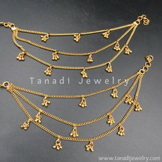 Tanadi Jewelry is a leading online store which specializes in South Asian Ethnic, Traditional, Tribal jewelry. Gold Jewelry Simple, Gold Rings Jewelry, Golden Jewelry, Jewelry Sets, Golden Earrings, Glass Jewelry, Silver Rings, Craft Jewelry, India Jewelry