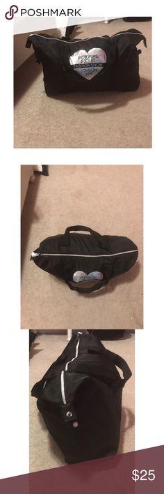 "Victoria secret duffle bag🖤 Victoria secret fashion show 2014 duffle bag, no pockets on the inside, its 20in""W x 12in"" L PINK Victoria's Secret Bags"