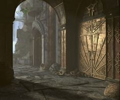 Entrance to the Dwemer Ruins 3D Rendering