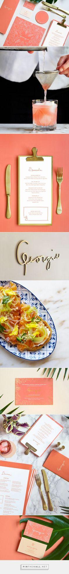 Georgie Restaurant Branding and Menu Design by Sandy Ley | Fivestar Branding Agency – Design and Branding Agency & Curated Inspiration Gallery