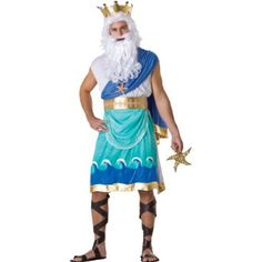 Amazon.com: Poseiden Adult costume: Clothing