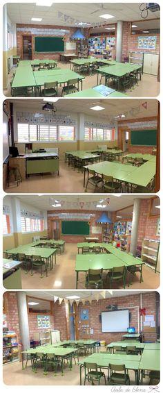 Nueva disposición del Aula de Elena Classroom Organisation, Classroom Setup, Classroom Design, Classroom Management, Reggio Emilia, Computer Teacher, Reading Projects, Learning Stations, Flipped Classroom