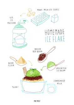 homemade iceflake recipe instagram @moreparsley_